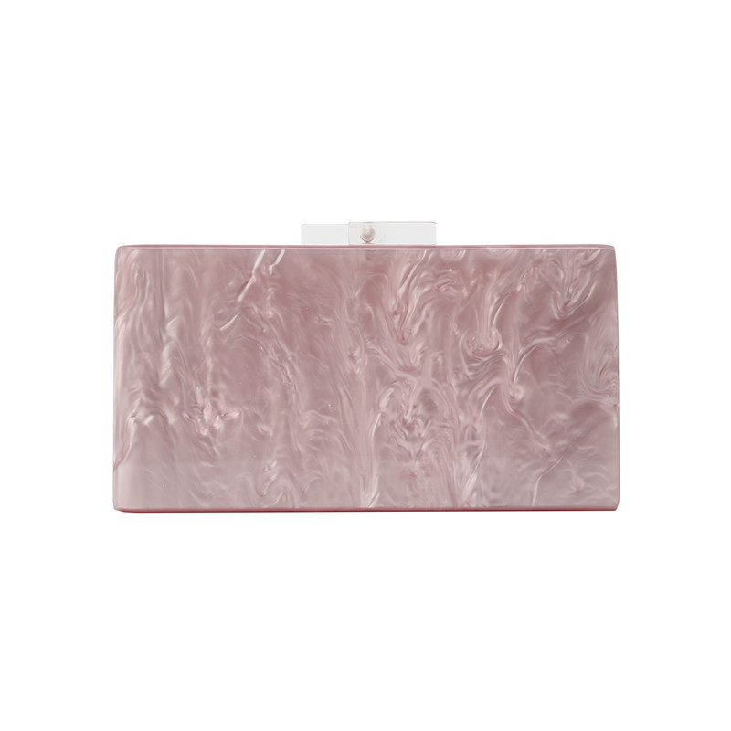 YX-005 PERSONALIZED ACRYLIC CLUTCH BAG