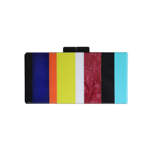 ZX-012 MIXED STRIPED CLUTCH