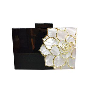 High End Custom Printing Flowers Design Clutch Bag Evening Bag