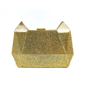 High End Luxury Cat Shape Purse Acrylic Evening Bag Clutch For Women