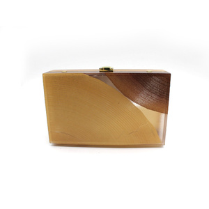 2021 new spring high quality china ladies designer tree wood acrylic evening clutch bag