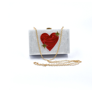 RED HEART PEARLESCENT ACRYLIC BAG J-N010