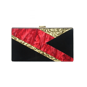 ZX-015 RED AND BLACK MARBLE WITH GOLD CONFETTI