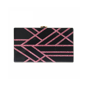 ZX-016 GEOMETRIC BUMP COLOR ACRYLIC CLUTCH
