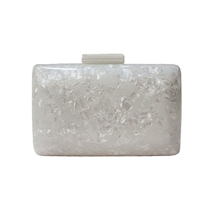 ZX-030 PEARL WHITE ACRYLIC EVENING BAG