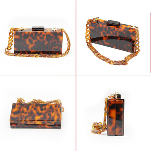 New Fashion Ladies Bag Wholesale Market Guangzhou Women Quality Acrylic Tortoise Shell Designer Even
