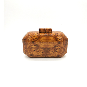 WOOD GRAIN ACRYLIC BAG WBC-B021