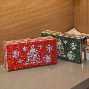 2021 new design Christmas ladies evening clutch bag