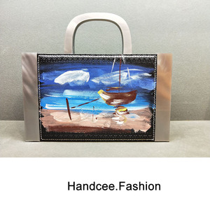 OIL PAINTING PU & ACRYLIC BAG HC-P001