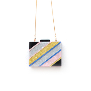 COLOURFUL STRIPE ACRYLIC BAG J-N006