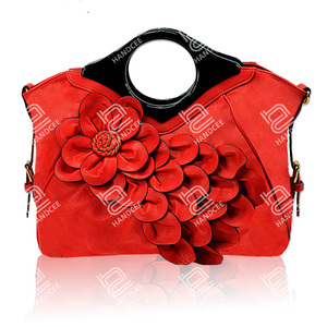 Handcee 2020 New Stereoscopic Big Flower Shoulder Bag Free Custom Logo Handbags