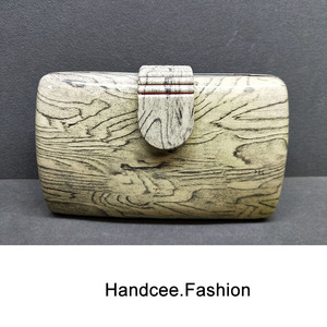 WOOD PATTERN ACRYLIC BAG HC-P015